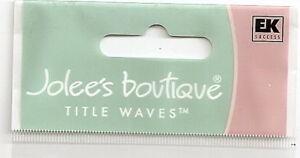 EK SUCCESS Jolee's Boutique Title Waves Sticker School Sports Vacation Halloween