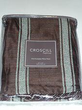 "New Croscill Home Yorkville European Euro Pillow Sham 26""x26"" Bed Stripes Green"