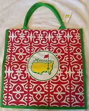 2018 MASTERS LARGE PINK JUTE BAG NWT - From Augusta - Flag - Authentic!