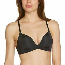Triumph Women's Black Size 36D Magic Wire T-Shirt Plunge Soft Bras $54 #056