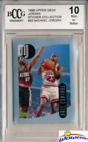 1998 Upper Deck #83 Michael Jordan Sticker BECKETT 10 MINT Bulls HOF