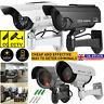 New Solar Dummy CCTV Security Fake Camera LED Light Indoor Outdoor Surveillance