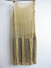 ORIGINAL ANTIQUE VINTAGE ART DECO BEADED BEADWORK FLAPPER DRESS 1920 embroidery