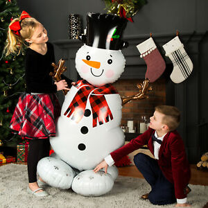 Balloons AirLoonz Snowman 88 x 139 cm, inflate only with air