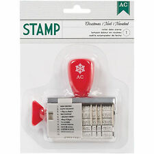 American Crafts CHRISTMAS ROLLER DATE STAMP scrapbooking PHRASES & DATES