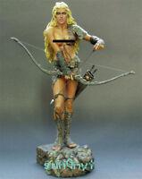 1/8 Unpainted Female Archer Figure Sexy Soldier Resin Statue GK Unassemble 10''H