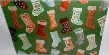 "Glass Cutting Board  CHRISTMAS STOCKINGS  11 3/4"" x 7 3/4"""