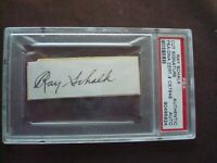 Ray Schalk 1912-28 Chicago White Sox PSA Certified Autograph d. 1970.