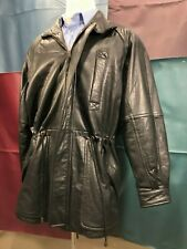 Robert Comstock Endurance Leather Glove Jacket Size 42 Hip Length Black