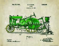 John Deere Tractor Patent Poster Art Print Vintage Toys Charles Freitag PAT335