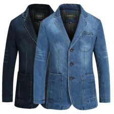 2018 Spring Men slim Jeans denim suits jacket Casual Blazer tops jacket outwear