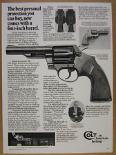 1977 Colt Police Positive .38 38 Special Revolver photo vintage print Ad
