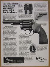 1977 Colt Police Positive .38 38 Special Revolver photo vintage print Ad