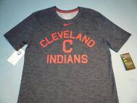 Nike Cleveland Indians Arch MEDIUM BRAND NEW shirt MLB athletic cut dri fit NWT