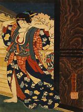 Impresión Cartel Pintura Dibujo Geisha Cabello tradición Taiso Japón Oiran nofl0931