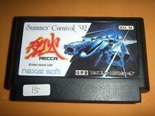 RECCA Summer Carnival '92 Nintendo Family computer software FC Famicom NES 015