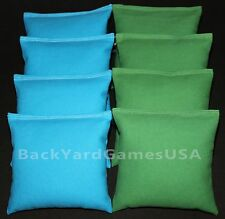 All Weather Cornhole Bean Bags Turquoise & Grass Green Resin Filled Waterproof