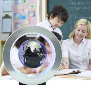 4inch O Shape Magnetic Levitation Floating Earth Globe World Map LED Decor Gift
