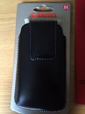 Leather phone pouch, Krusell size M