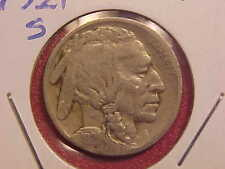 1921 S BUFFALO NICKEL - F - SEE PICS! - (N2439)