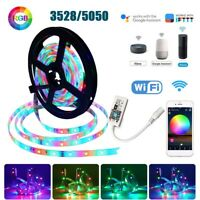 5M/10M 3528 5050 RGB LED Strip Light Wifi Smart App for Alexa Google Home Xmas