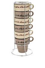 Set COPPA CAPPUCCINO CIOCCOLATO, Cioccolato amante TAZZA TOWER, Set di 6 tazze e stand
