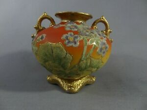 Nippon Beautiful Coralene Vase.