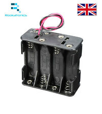 Quality Mini Plastic 12V Battery Clip Slot Holder Box Case 8 aa AA1.5V Batteries
