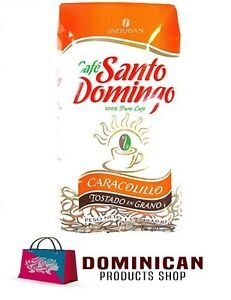 CAFE SANTO DOMINGO CARACOLILLO DOMINICAN WHOLE BEAN COFFEE 1 POUNDS 454 GRAM