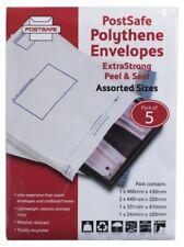 Postsafe Polythene Envelopes Extra Strong Assorted Sizes Pack Of 5