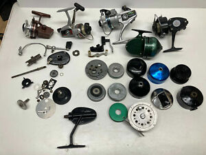 Vintage Fishing Reel Parts Lot - Bail Spool Handles Garcia Ryobi Berkley Zebco +