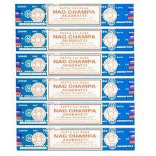 6 Packs Original Satya Sai Baba Nag Champa Incense Sticks  Joss Insense Genuine