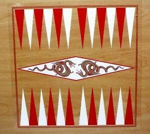 """✅ BACKGAMMON GAME BOARD DECAL - 16"""" SQUARE VINYL BOARD DECAL - EASY APPLY"""