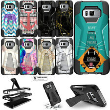 For Samsung Galaxy S8 + Plus Dual Layer Combat Kickstand Cover Shockproof Case