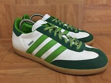 RARE🔥 Adidas Samba 80 Leather Sneakers Gum Sole Kermit Green Sz 10.5 677568