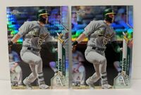2020 Topps Chrome Silver + Prism Refractor Seth Brown RC (A's) Rookie Card