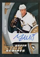 2009-10 UD TRILOGY SUPERSTAR SCRIPTS MAXIME TALBOT AUTO AUTOGRAPH