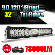 32inch Curved LED Light Bar Combo Off Road SUV ATV Marine Pickup 30'' + wiring