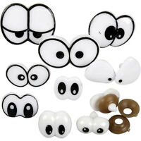 Funny Eyes with Fastener For Textile Crafts Variety 9 Mixed Sizes Creative CR30