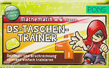 *- PONS - DS-TaschenTRAINER - MATHEMATIK 6. KLASSE  tb (2011)