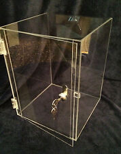 >>DOLL<<Display  10 x10 x16.5  DOLL  Acrylic CounterTop Showcase (revolve avail)