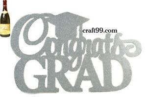 Graduation Banner-Congrats Grad Glitter Foam Banner-XXL.