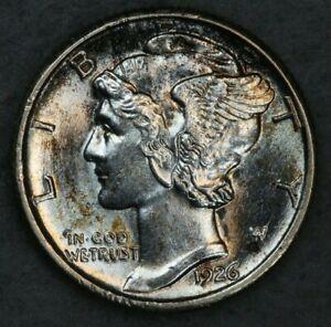 1926 10C Mercury Silver Dime Album Set Break High Grade Collection BU UNC Toned