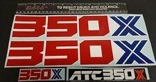 1986 86 HONDA ATC 350X  DECALS GRAPHICS STICKER EMBLEM FITS 85 1985 ALSO FENDERS