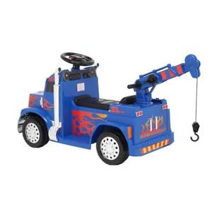 2 Colors 6V Kids Electric Ride on Fire Truck With Parental Remote Control  Music