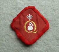 Vintage Scouts cloth badge, Q quality, not sure which one.