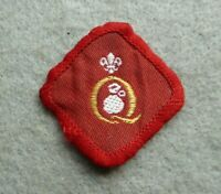 Vintage Scouts cloth badge, Quartermaster.