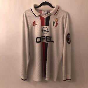 VINTAGE LOTTO AC MILAN 1995-1997 AWAY JERSEY. SIZE L ADULTS
