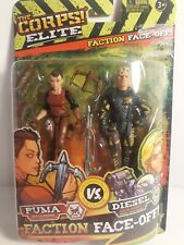 "The Corps Elite Faction Face-Off 4"" Lanard Action Figures  NIB"