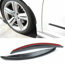 "Pair 13"" Black Unpaint Bumper Quarter Panel Diffuser Fender Flares Lip For Ford"